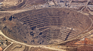 Butte copper mine